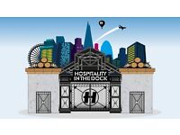 2 tickets, 'Hospitality In the Dock' drum & bass music event, London, all day event