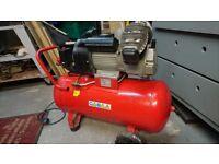 Air Compressor 50ltr V-Twin Direct Drive 3hp Model Sealey SAC05030