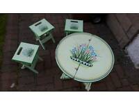 Childrens Garden table and chairs