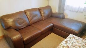 3 seats dark brown leather sofa for sale