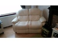 2 seater couch cream leather