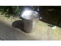 Vintage Champagne Wine Ice Bucket Drinks Cooler Chiller Lager Metal Steel