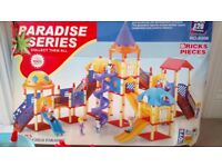 Paradise series bricks pieces - create your own toy playground