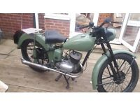 1959 BSA Bantam and spares