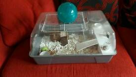 2 hamster, gerbil cages