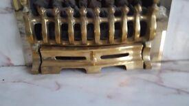 Brass fire grate