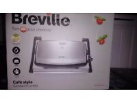 BREVILLE VST049 CAFE STYLE SANDWICH PANINI PRESS MAKER TOASTER, New on Box