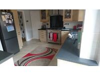 Kitchen units, worktop and breakfast bar (used)