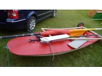 Red Topper sailing dinghy