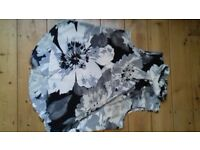 Next ladies blouse size 16 to 18 lovely flowered grey white black and grey trousers size 16