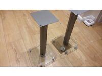 Glass speaker stands