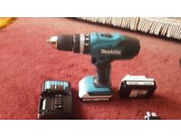 Makita DHP 457D 18V white cordless hammer drill