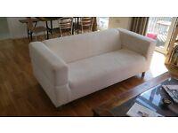 2 ikea klippan 2 seaters sofas