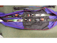 Rossignol Skis, poles and carrying bag