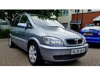 2005 Vauxhall Zafira 1.6 i 16v Breeze 12 months mot 7 seater low milage 77k full service history
