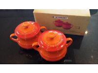 LE CREUSET Set of 2 mini Soup Bowls -Brand New