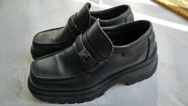 Pod Black Slip On Smart Formal Shoes Size 8