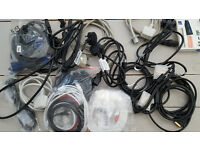 Assorted lot Cables Leads Power Kettle Video HDMI VGA DVI Network Lan Ethernet Cat5 cable lead