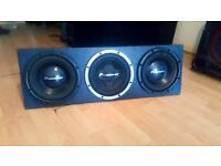 SUB BOX 3X PIONEER 12'' CUSTOMISED SUB BOX SOUNDS REAL NICE £100 O N O
