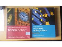 British polictics / EU politics Palgrave textbooks