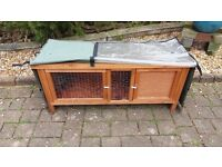 Guinea Pig Hutch and fitted cover