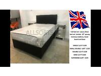 Double black faux leather bed set includes mattress viewing welcome new