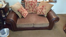 Matching 2 seater and 3 seater sofas, as good as new