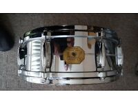 gretsch G4160 chrome over brass snare drum