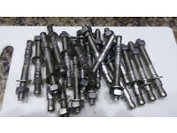 20 JCP M8 Through Bolts 75mm Stainless fasteners Screws Fixings