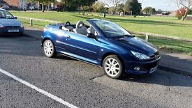 PEUGEOT 206 cc CONVERTIBLE 2005 (55) 1.6cc Blue Metallic/ Beige Leather 5 spd Manual