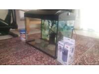 Aquarium with Fish Food