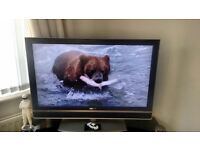 Sony 40 inch Bravia LCD television with glass and silver stand