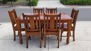 7pce Solid Wood Kitchen Table Set Trott Park Marion Area Preview
