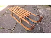 Vintage Davos Timber Wooden Sledge