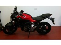 Yamaha MT 07 2014 - only 3,150 miles