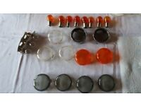 Harley Davidson Turn Signal Lenses Smoked, Clear and Chrome
