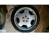 "Mercedes alloy wheel damaged repair 17"""