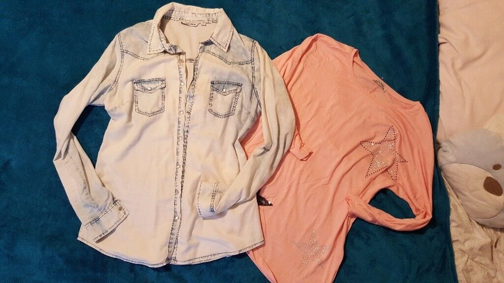 Lots of clothes size 12 and accessories