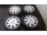 17 FORD MONDEO GHIA ALLOY WHEELS GOOD TYRES FIT CONNECT FOCUS 5 X 108 FORD