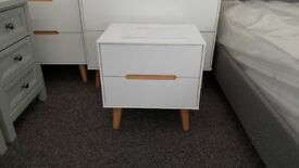 Alicia 2 Drawer Bedside Table By Julian Bowen Can Deliver