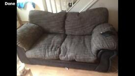 Black grey sofas 2 x 2 seaters FREE