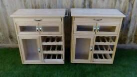 Two small matching pine butchers blocks