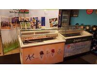 Icecream counter serveover palour