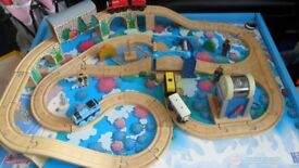 Thomas the Tank Learning Curve Wooden Train Table & Train Set with Trains