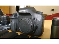 Canon 7D + Hahnel ProCube + 2 lenses + lots of extras