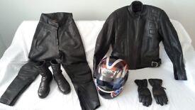 BELSTAFF LADIES MOTORCYCLE CLOTHING & OGK HELMET £200 ono for everything.