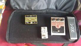 EHX guitar pedal soft case with aluminium base