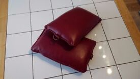 Old Church Prayer Kneeling Cushion or Leatherette Hassock (Kneeler) for Sale in Rexine Vinyl - RED
