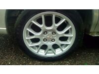 """MG ZR ZS Rover 16"""" alloys hairpin wheels x4 good condition with tyres"""