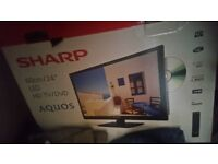 Sharp 24 inch lcd tv with built-in dvd